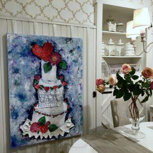 cake painting art