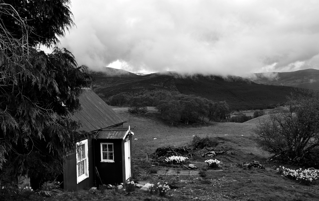 View of Braeview, Nan Shepherd's shanty in the Cairngorms