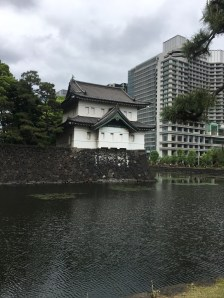 The imperial palace gardens. I love the contrast between the traditional building and the high-rise