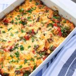 Tex-Mex Bagel Breakfast Casserole