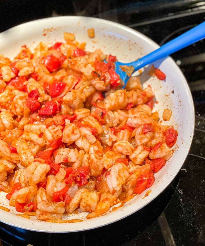 Shrimp Enchiladas filling