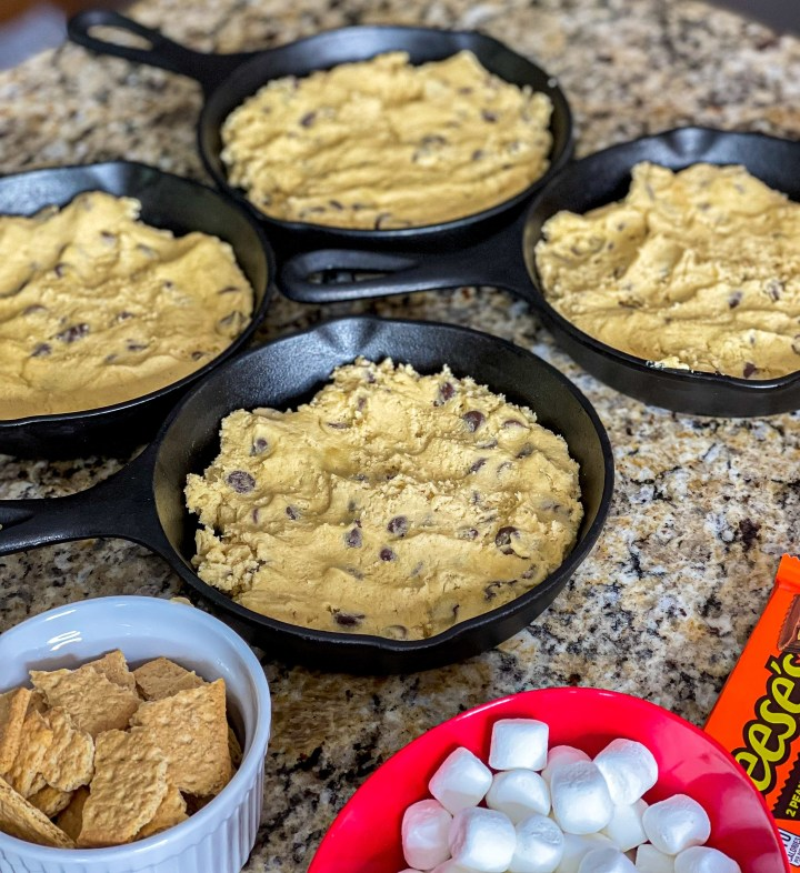 Chocolate Chip Skillet Cookies process