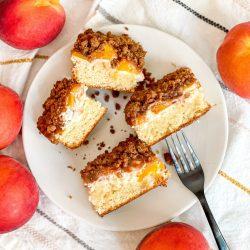 Peaches and Cream Streusel Cake