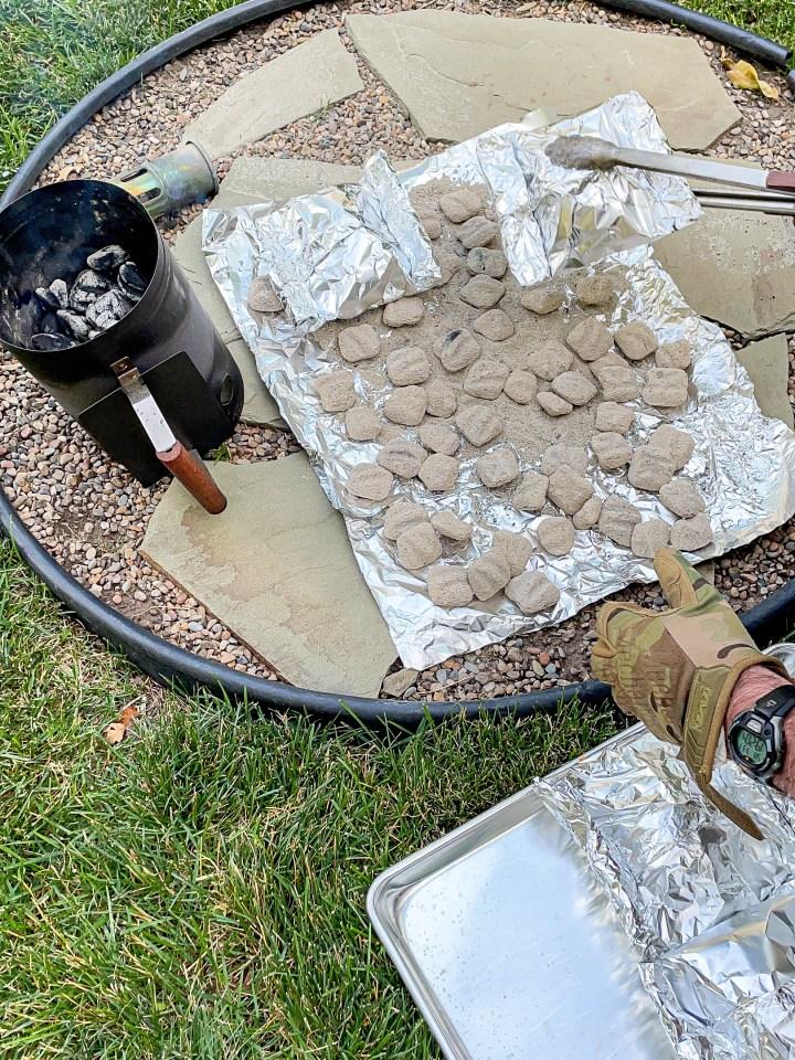 Outdoor Oven Hot Coals
