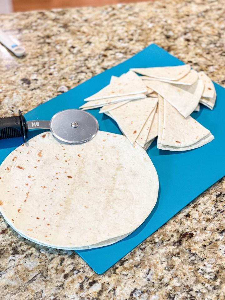 Flour tortilla chips