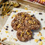 German Chocolate Crunch Cookies