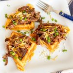 BBQ Beef with Mexican Cornbread Waffles