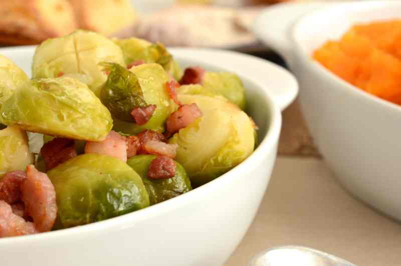 Sprouts with pancetta and orange orange