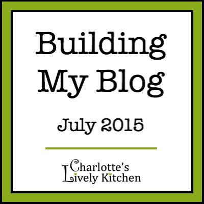 Building my blog July 2015 badge