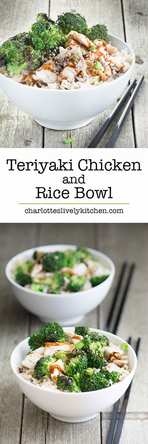 Teriyaki chicken and rice bowl - a quick, simple and delicious mid-week dinner that's packed full of flavour.