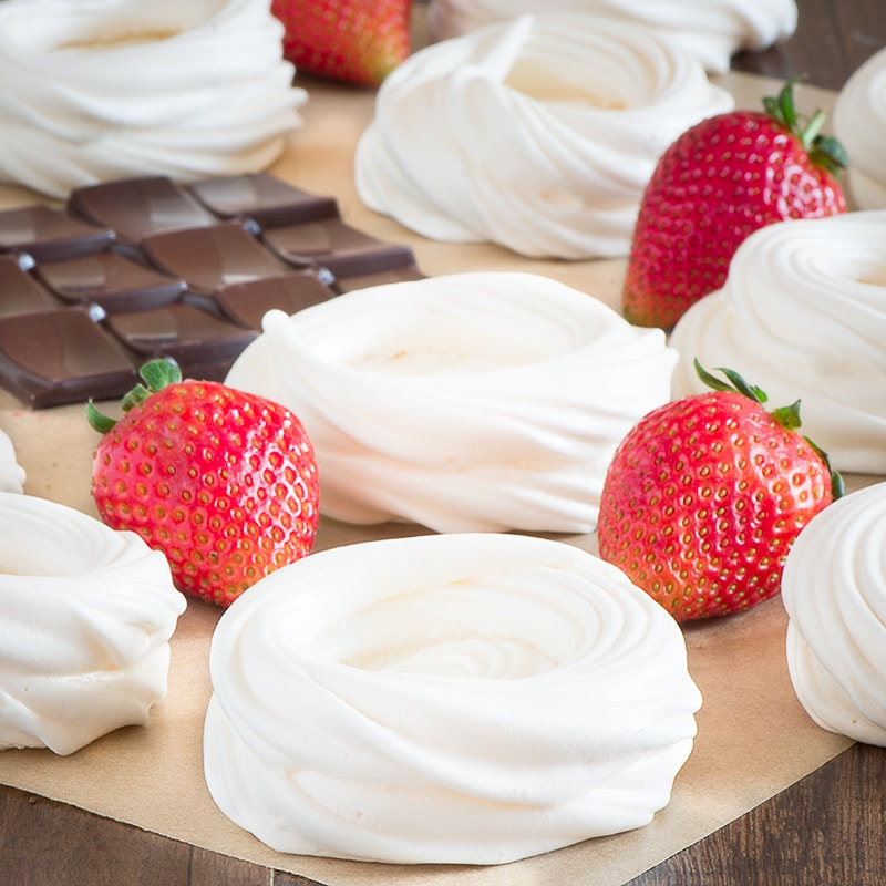 Mini strawberry pavlovas make a beautiful dessert and are quick and easy to make. Even better... they're less that 140 calories each.