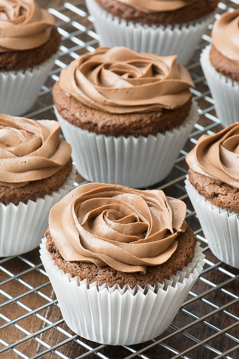Easy Nutella Cupcakes | Charlotte's Lively Kitchen