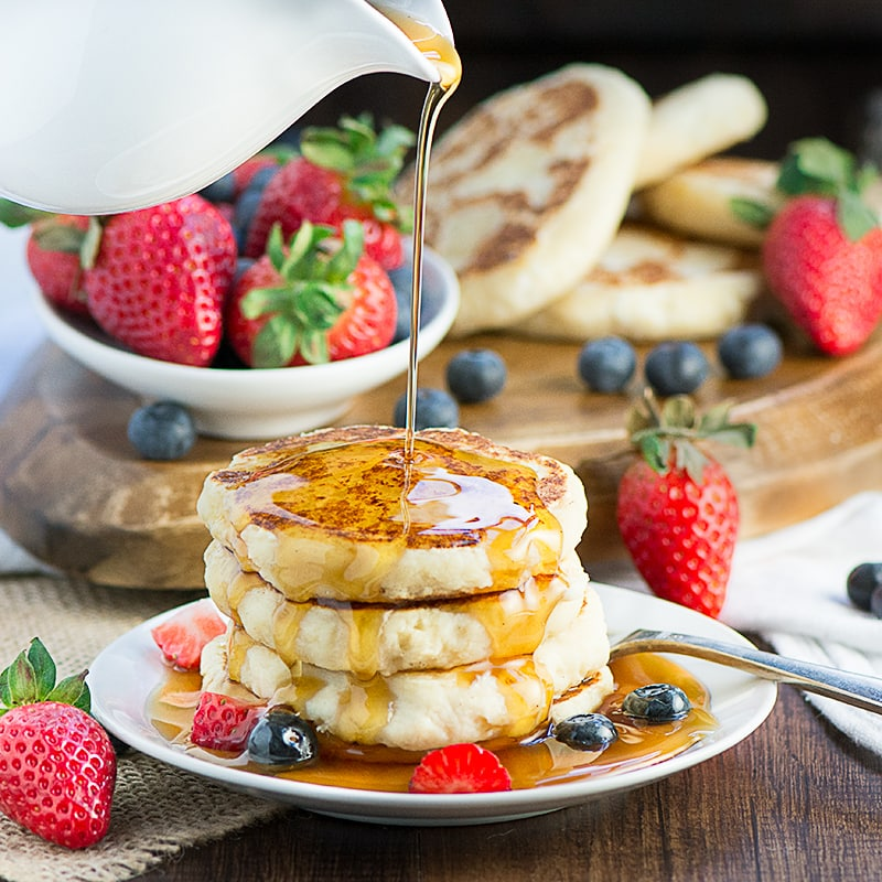 Start the day with these delicious, easy to make ricotta pancakes. They're like a bit of cheesecake in a pancake and they just happen to be egg-free too.