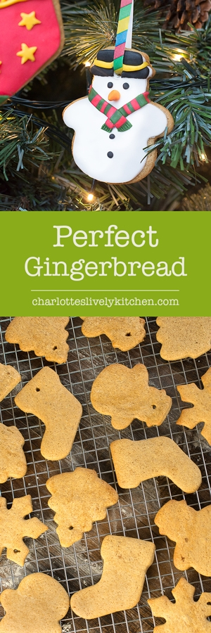 My recipe for perfect gingerbread biscuits that are delicious, easy to make and hold their shape brilliantly. Perfect for gingerbread men, houses and tree decorations.