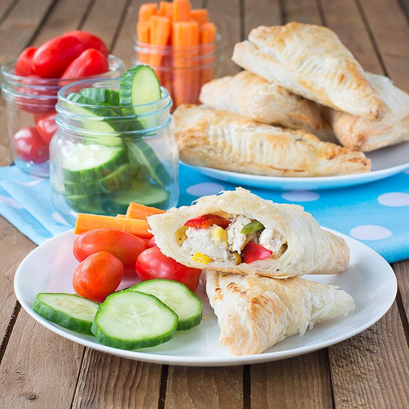 Get your children involved in making their own dinner with these delicious and easy chicken and vegetable pasties.