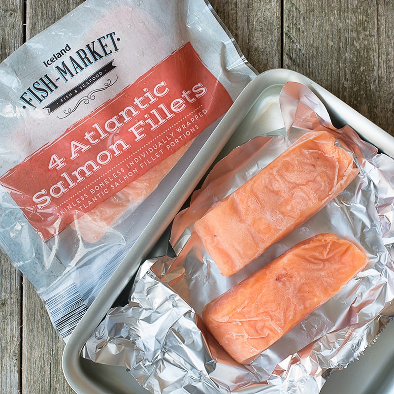 Iceland atlantic salmon fillets