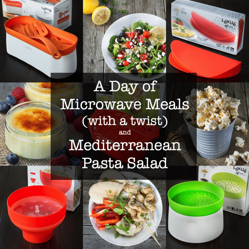 A day of only microwave meals with a twist - everything is healthy and cooked from scratch.