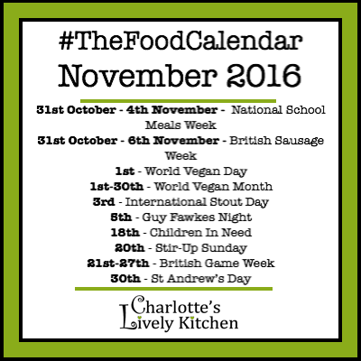 What's on in The Food Calendar for November 2016
