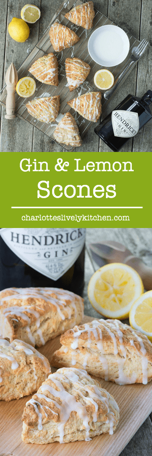 A delicious twist on traditional scones, flavoured with gin and lemon zest.