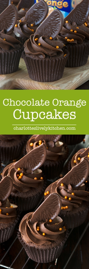 Chocolate orange sponge topped with smooth chocolate orange buttercream and topped with a slice of Chocolate Orange - Chocolate Orange Heaven!