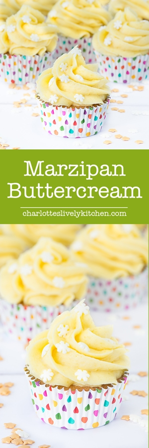 Marzipan Buttercream - The ultimate icing for any marzipan fans. Perfect for topping your Christmas cake or mince pies.