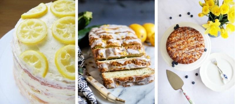 Gluten-Free Lemon & Elderflower Cake, Courgette & Lemon Cake and Lemon & Blueberry Bakewell Cake