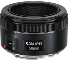 Canon 50mm; Often referred to as a standard lens because it features a similar ratio to the human eye when used with a full frame sensor. Sometimes marketed as a 'Prime'lens meaning that it is a fixed focus lens.