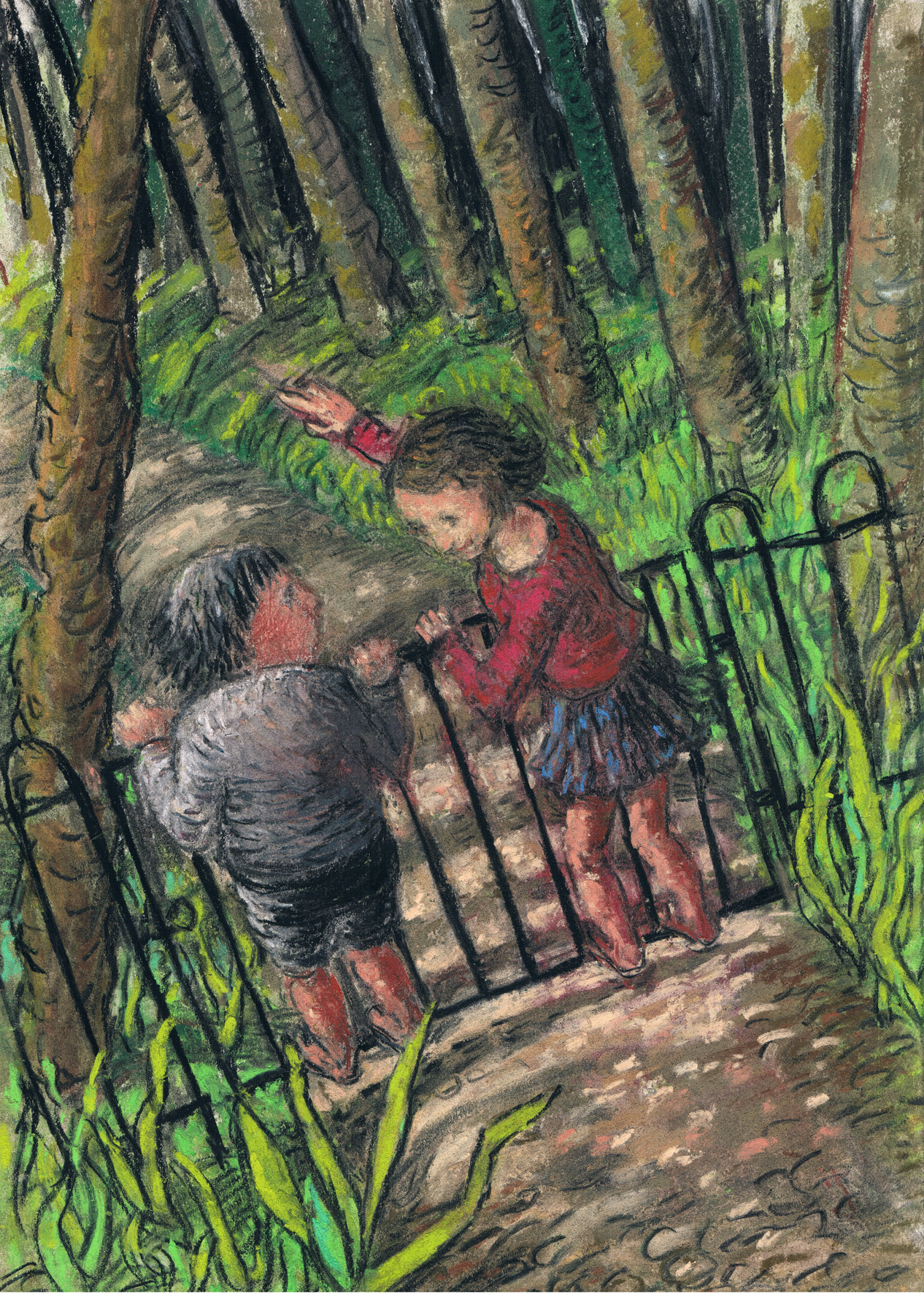 "Illustrational drawing by Charlotte Steel from ""Down in the Woods"""