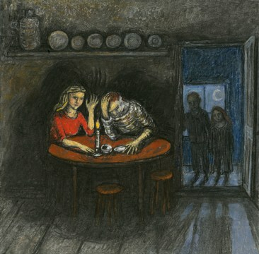 "Drawing from ""Hansel and Gretel"" by Charlotte Steel"