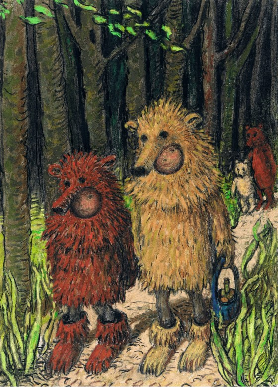 "Illustration by Artist Charlotte Steel from "" Down in the Woods"""