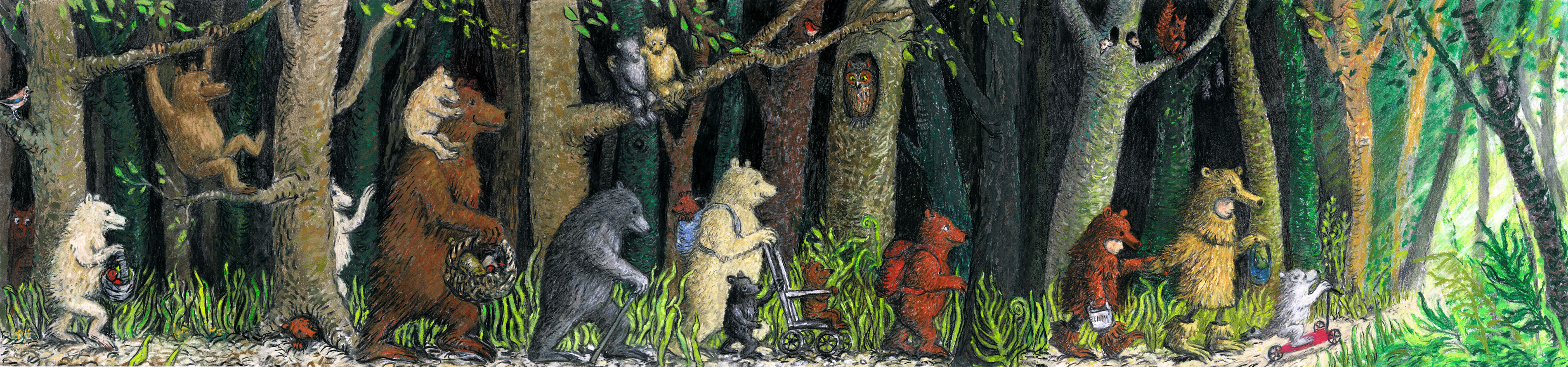 Long Bears in the Wood