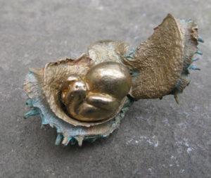 Charlotte Steel2 Part Bronze Sculpture Charlotte Steel