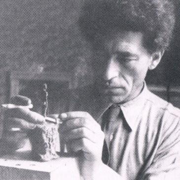 Giacometti's truth working in his hotel room the Hotel de Rive, Geneva(1944)