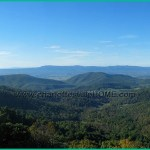 Blue Ridge Mountains along the Skyline Drive near Charlottesville, VA