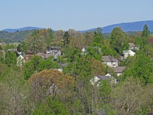 Aerial View of Foxcroft Neighborhood in Charlottesville