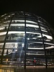 The glass dome on top of the Reichstag building