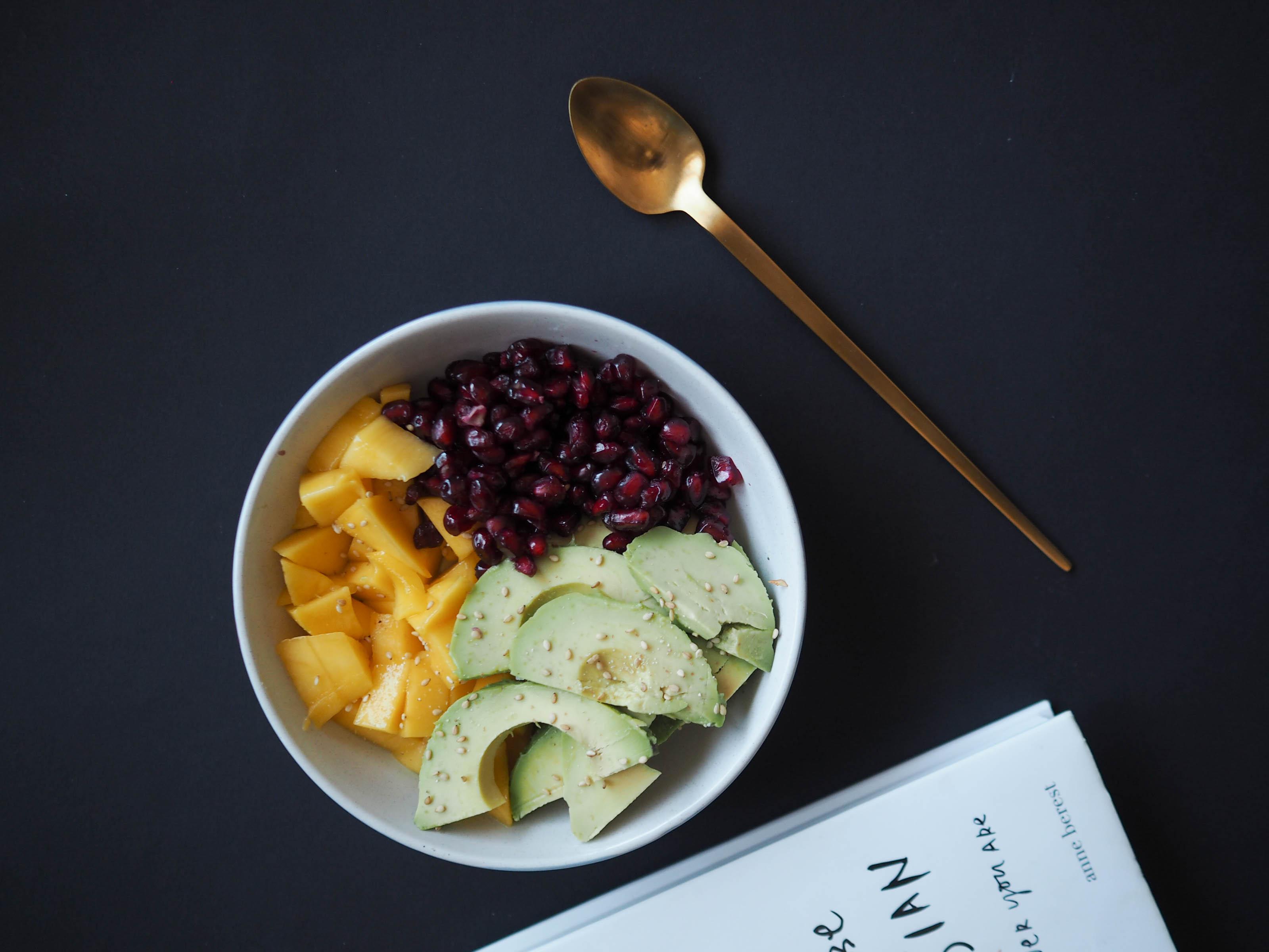 poke lunch bowl fruit