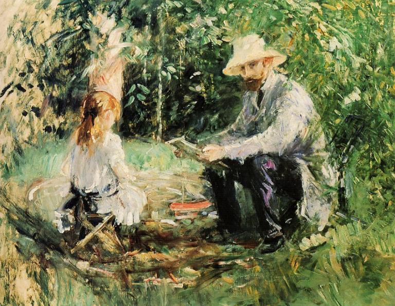 Eugène Manet et sa fille au jardin 1883
