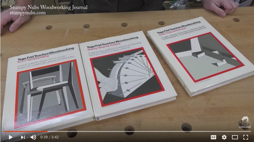 Book Review: Tage Frid Teaches Woodworking (Joinery / Shaping, Veneering, Finishing)