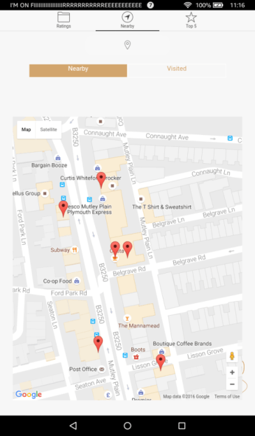 Locate Nearby Coffee Shops