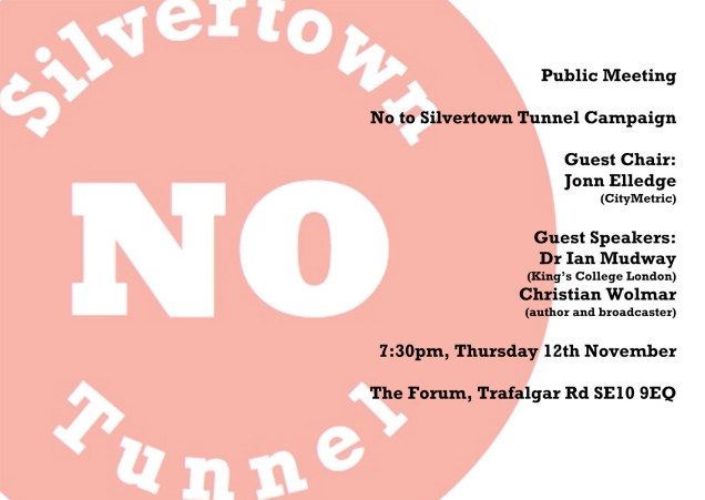 No to Silvertown Tunnel poster