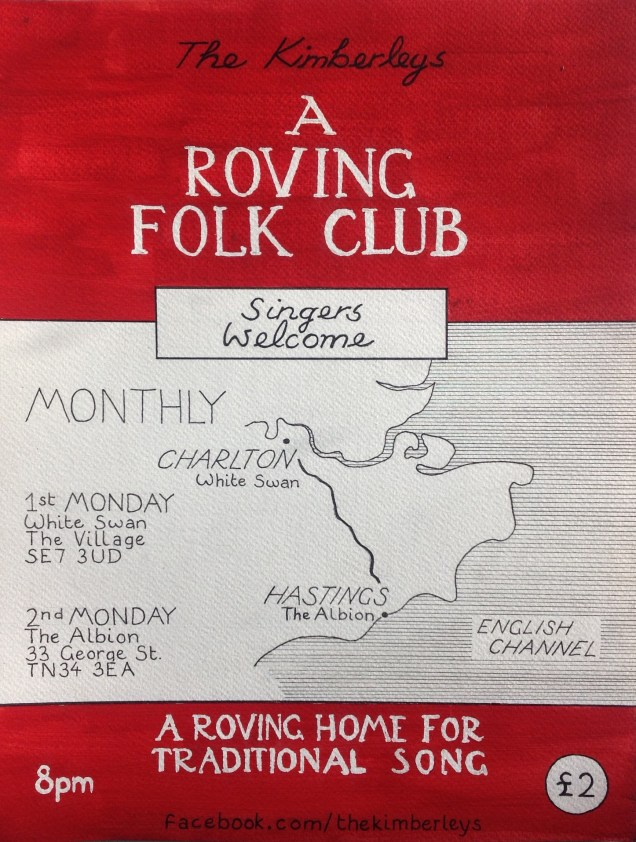 Roving Folk Club poster