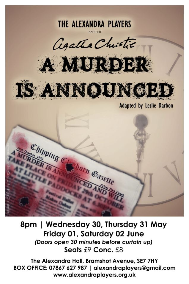 Alexandra Players poster - a murder is announced