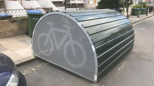 Cycle hangar in Combedale Road