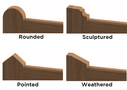 Choice of gate stile tops