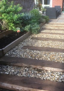 Rustic Sleeper steps and pathway buy once use twice