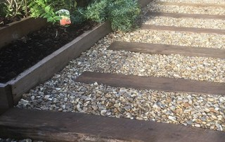 Rustic Sleeper steps and pathway