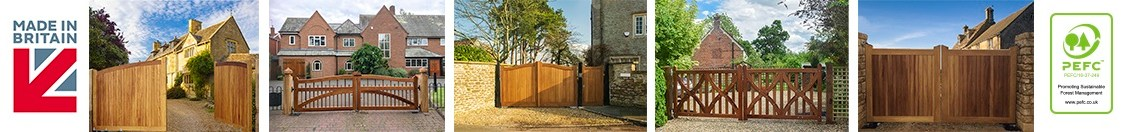 Quality wooden driveway gates