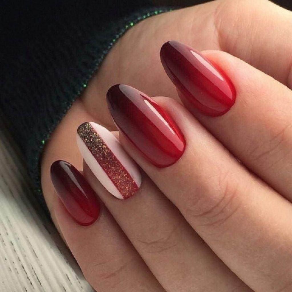 Czarny I Czerwony Manicure 100 Najlepszych Nowych Wzorow Na Zdjeciu