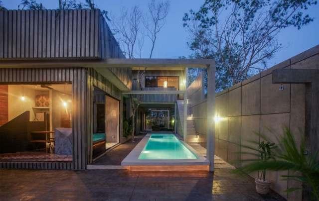 メキシコのトゥルムの活気ある家T-House homesthetics architecture(19)